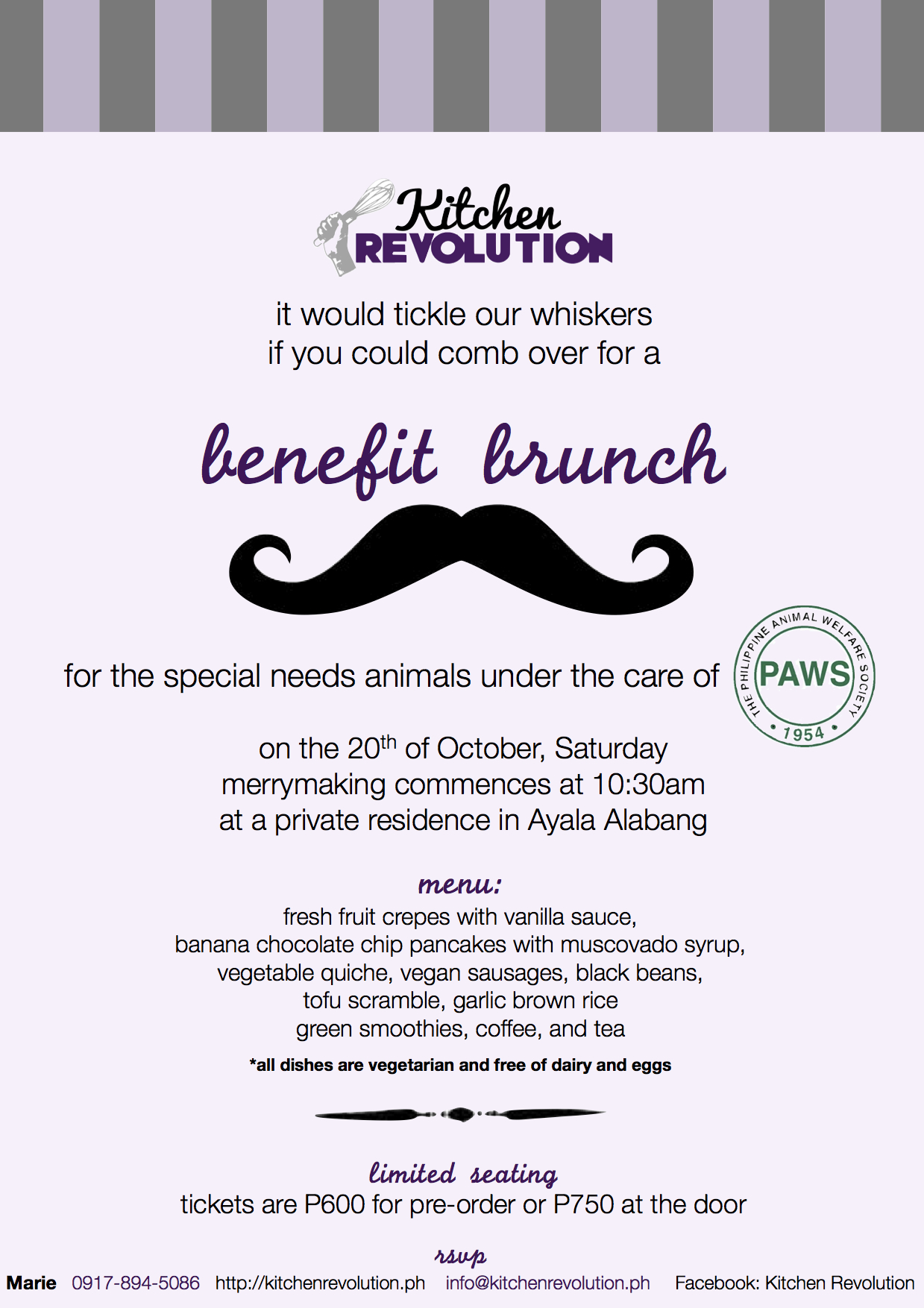 You Are Cordially Invited To A Paws Benefit Brunch Kitchen Revolution