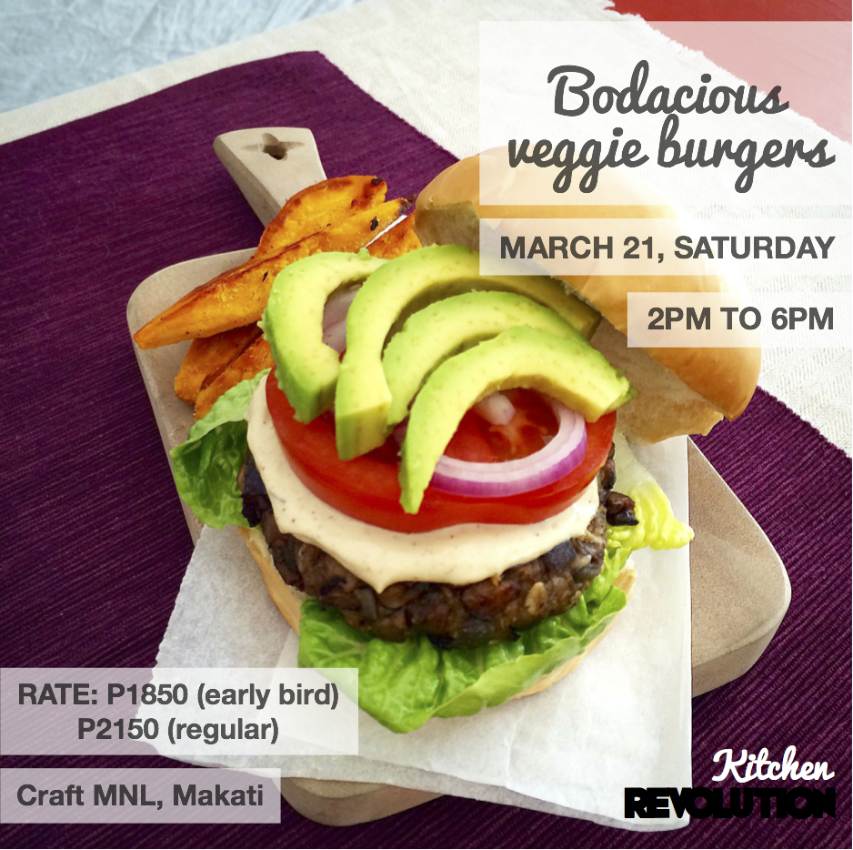 In BODACIOUS VEGGIE BURGERS class, learn how to make 4 flavourful ...