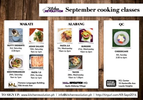 september schedule